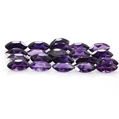 Natural Amethyst Marquise Cut 6x12mm 21 pcs 34.45 ctw