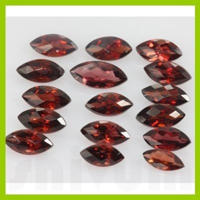 Natural Red Garnet Marquise Cut AAA 16 pcs 24.24 ctw
