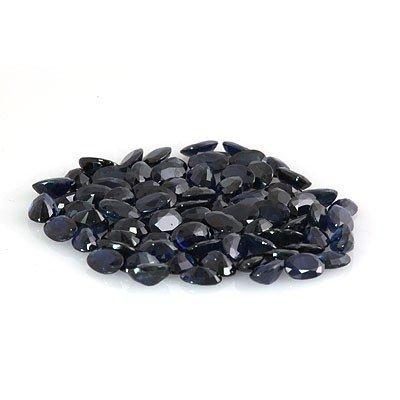 Natural Dark Blue Sapphire Oval Cut AAA 80 pcs 46.03ctw