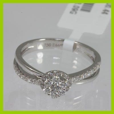 Genuine  0.44 ctw Diamond Ring 18KT White Gold