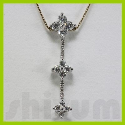 Genuine 0.6ctw Diamond Necklace 14k Gold 1.22g