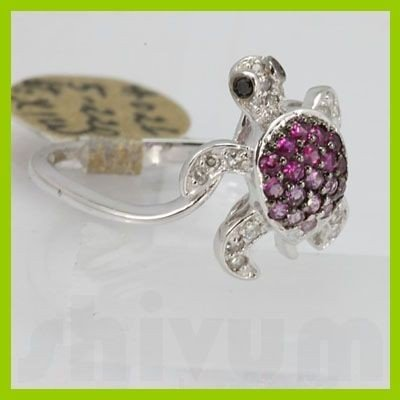 Genuine 0.44 ctw Pink Sapphire& Diamond Ring 14KT