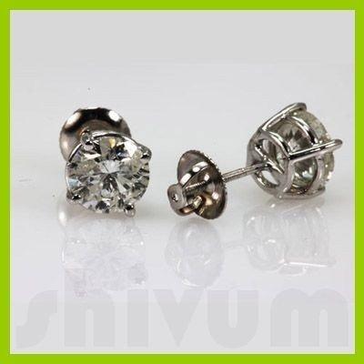 Genuine  2.66 ctw Diamond Earring  14K