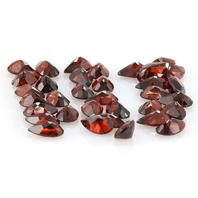 Natural Red Garnet Pear Cut 5x8mm 34 pcs 35.02 ctw