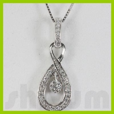 Genuine 0.2ctw Diamond Necklace 14K Gold 2.62g