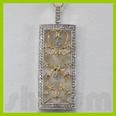 Genuine 0.61ctw Diamond Necklace 14k Gold 5.66g