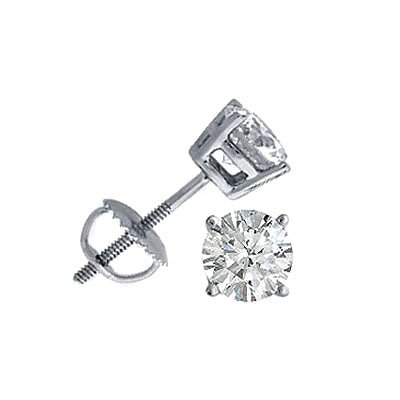 3.00 ctw Round cut Diamond Stud Earrings, F-G, SI-I