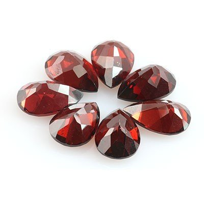 Natural Red Garnet Pear Cut 8x12mm 7 pcs 26.69 ctw