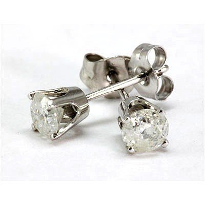 0.50 ctw Round cut Diamond Stud Earrings, F-G, SI-I