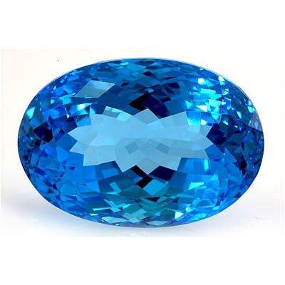 Natural Blue Topaz Oval Cut 16x22mm 1 pc 36.02ctw