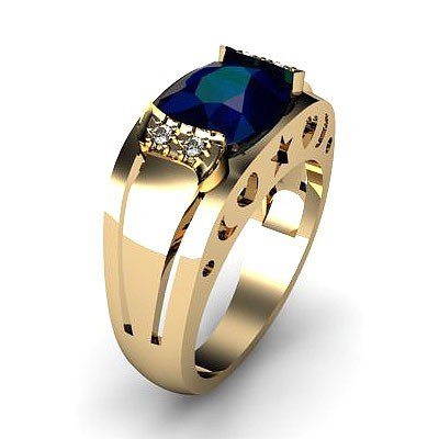 Genuine 2.80 ctw Sapphire Ring 14k 4g,  RS 7