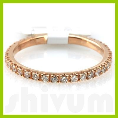 "Genuine 0.41 ctw 14k Pink Gold Ring 16"" 1.19g"