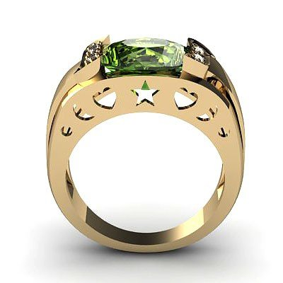 Genuine 3.60 ctw Green Tourmaline Ring 14k 4g,  RS 7