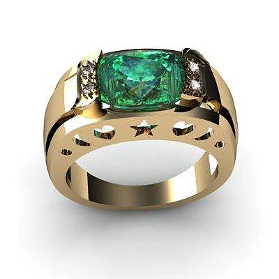 Genuine 3.20 ctw Emerald Ring 14k 4g,  RS 7