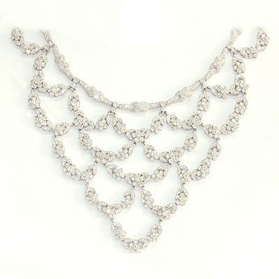 Genuine 10.74 ctw Diamond Chandellier Necklace 18K