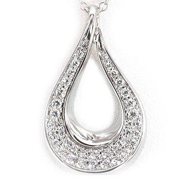 Genuine 0.2 ctw White Diamond Pear Shape Necklace 14K