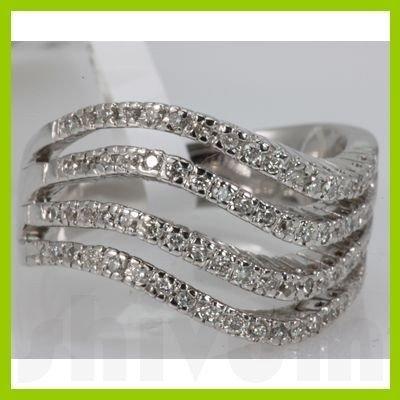 Genuine 0.48 ctw Diamond Ring 14K White Gold