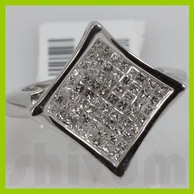 Genuine 1.05 ctw 14k Diamond White Gold Ring