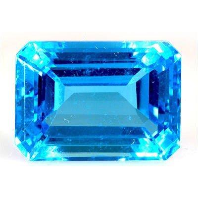 Natural Blue Topaz Emerald Cut 16x22mm 1 pc 34.90ctw