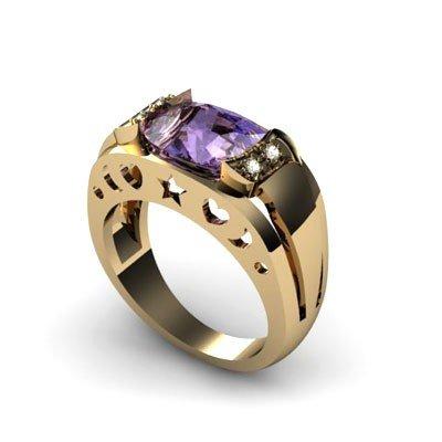 Genuine 3.25 ctw Tanzanite Diamond Ring W/Y Gold 10kt