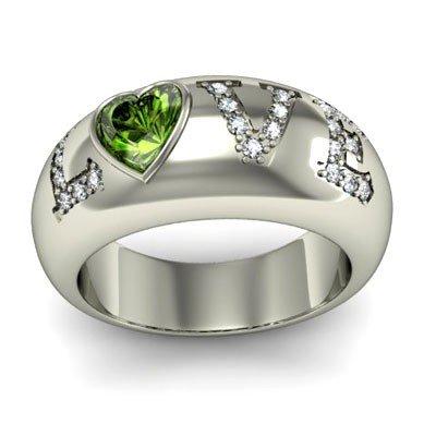 Genuine 0.74 ctw Emerald Diamond Ring 14k W/Y Gold