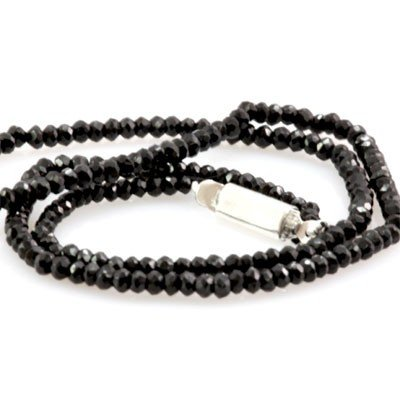Natural Black Spinal Necklace 48.91ctw with brass clasp