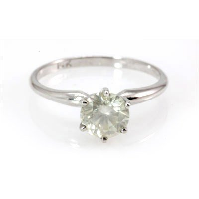 Genuine Solitaire Ring 1.17 ctw & Diamond Ring 14KTGold