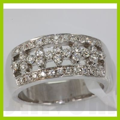 Genuine 0.52 ctw Diamond Ring 14k White Gold