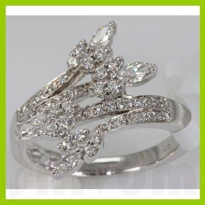 Genuine 0.72 ctw Diamond Ring 14K White Gold