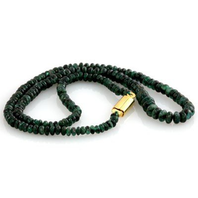 Natural Emerald Necklace 42.66ctw with brass clasp