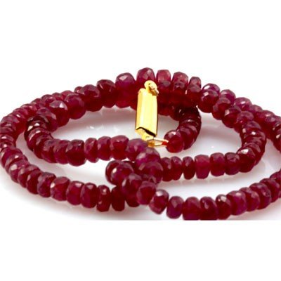 Natural Ruby Necklace 129.82ctw with brass clasp