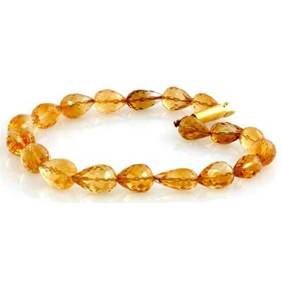 Natural Citrine Drop Bracelet 90.39ctw with brass clasp