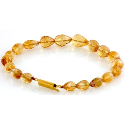 Natural Citrine Drop Bracelet 90.39ctw with brass clasp - 2