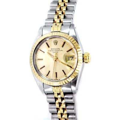 744a6da9378a Used Rolex Oyster Perpetual Date Womens Watch 2TONE 14K