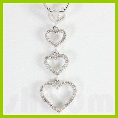 "Genuine 0.28 ctw  Heart Diamond Necklace 16"" 14kt"