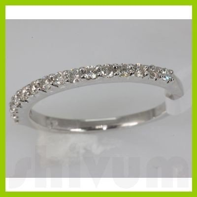 Genuine 0.33 ctw Diamond Ring 14K White Gold