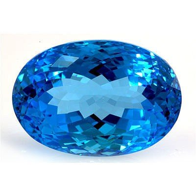 Natural Blue Topaz Oval Cut 16x22mm 1 pc 36.02ctw
