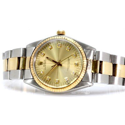 Used Rolex Oyster Perpetual Mens Watch Gold Plated