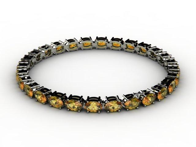Genuine 10.35 ctw Citrine Bracelet 10k W/Y Gold,6.8g