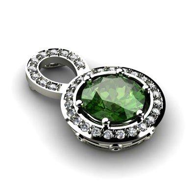Genuine 2.85 Ctw Emerald (Beryl) Pendant 14k