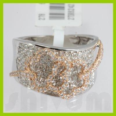 Genuine 1.26 ctw 2 Tone Diamond Ring 18kt Gold