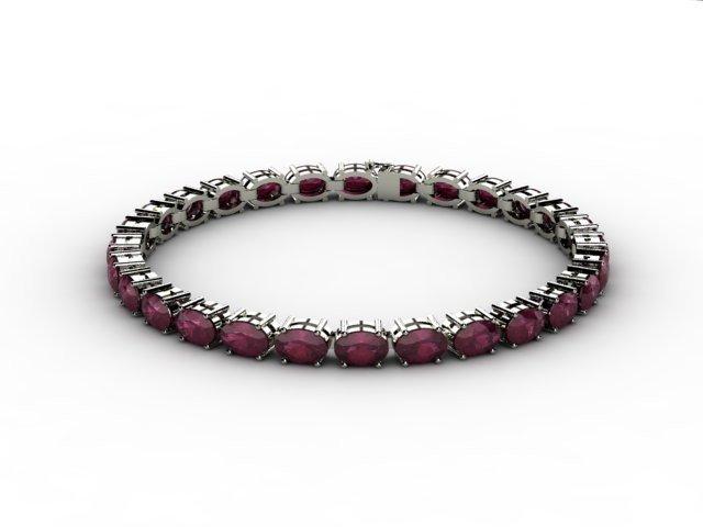 Genuine 13.80 ctw Ruby Bracelet 10k W/Y Gold,9.9g