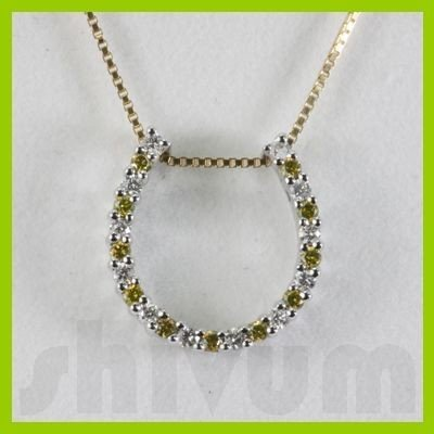 Genuine 0.27ctw Diamond Necklace 14K Gold 1.31g