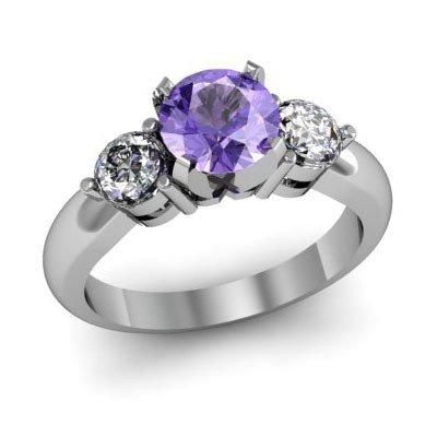 Genuine 1.70 ctwTanzanite Diamond Ring W/Y Gold 14kt