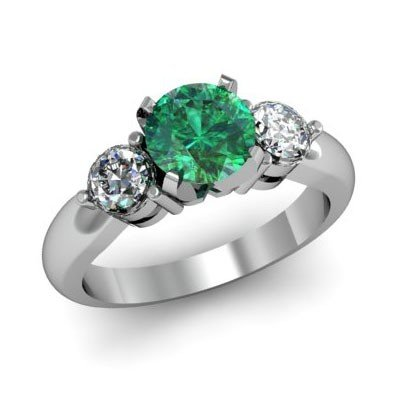 Genuine 1.50 ctw Emerald Diamond White/Yellow Gold 10kt