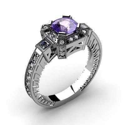 Genuine 1.68 ctw Tanzanite Diamond Ring 14k