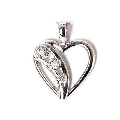 Genuine 0.07Ctw Diamond Necklace 10K