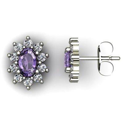 Genuine 3.24 ctw Tanzanite Diamond Earring 10k W/Y Gold