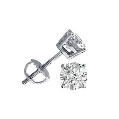 1.00 ctw Round cut Diamond Stud Earrings, G-H, SI-I