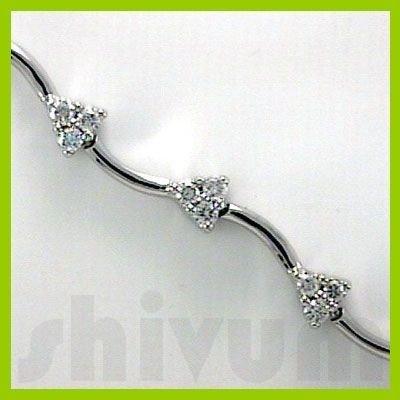 Genuine 1.01 ctw 14K Diamond Studded Fashion Bracelet